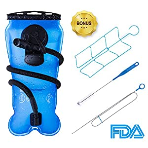 BONL Emerald Hydration Bladder 3 L, Military Quality Water Reservoir - 3 Litres (Blue + Cleaning Kit)