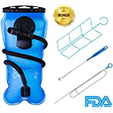 Hydration Bladder 3L/ 100 Oz, BONL Emerald Water Reservoir 3-Litre w/ Cleaning Kit, Military Class Quality, Wide-Opening,Shutoff Valve, Best for Hiking,Cycling,Climbing,Hydro Backpack,Outdoor Event