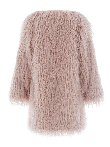 357cce094 Simplee Apparel Women's Winter Warm Fluffy Long Faux Fur Coat Jacket Outwear