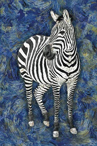 Zebra Journal - Zebra: Notebook Blank College-Ruled Lined in Van Gogh Starry Night Art Style (Student Animal Journals for Writing Journaling & Note-taking)