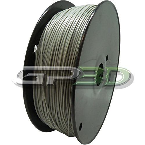 GP3D ABS Grey 3D Printer Filament - 1KG 1.75mm 2.2lbs. Compatible With 3D Printers Reprap, Makerbot Replicator 2, Makergear M2 and up, Afinia, Solidoodle 2, Printrbot GP3D Supplies
