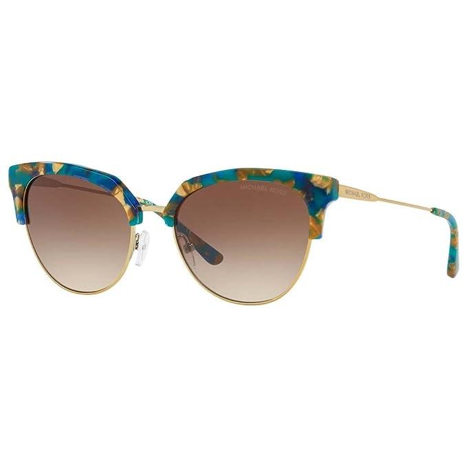 Michael Kors 0MK1033, Gafas de Sol para Mujer, Teal Mosaic/Shiny Pale Gold