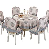 Round tablecloth,European family table cloth-A diameter200cm(79inch)