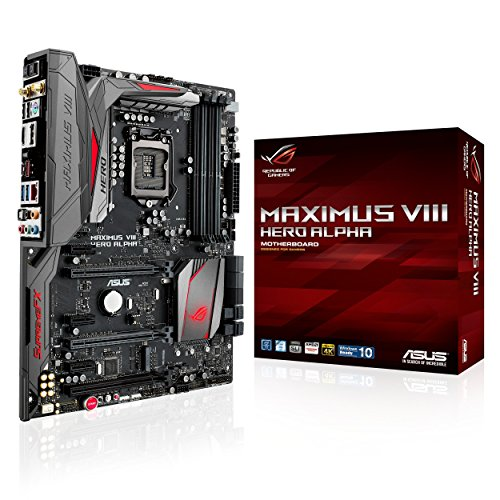 Asus ROG MAXIMUS VIII HERO ALPHA ATX DDR4 3000 LGA 1151 Motherboards (Certified Refurbished) by Asus