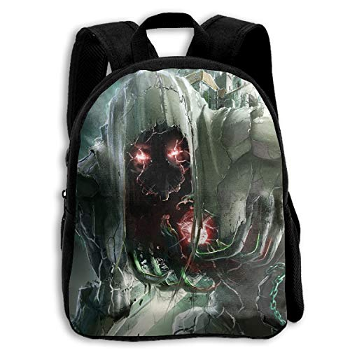 Liumong Hallowen Scary Skull Alien Red Eye Children Multi-Function Mini Casual Outdoor Travel Book Middle School Backpack 13 Laptop Computer Bag Pocket -