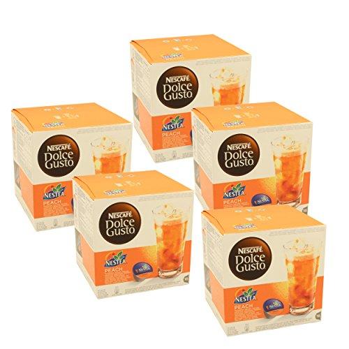 NESTLY Nescafé Dolce Gusto Nestea Iced Tea Peach, Pack of...