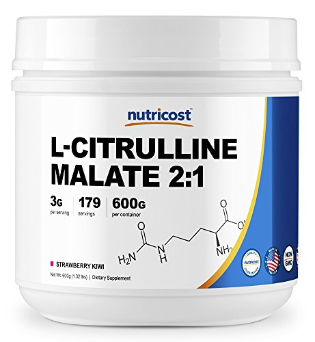Nutricost L-Citrulline Malate 2:1 (600 Grams) (Strawberry Kiwi)