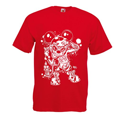 T shirts for men a mouse with an amazing Halloween costume (Large Red Multi (Quick Homemade Halloween Costumes Adults)