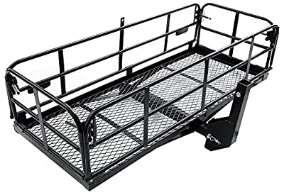 """Merax Foldable Cargo Carrier Basket Luggage Rack with 2"""" Reveiver"""