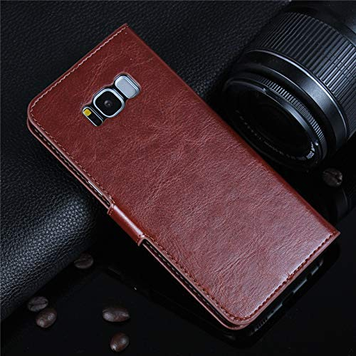 Addindia Vintage Leather Flip Cover Case for Samsung Galaxy S6 Edge Plus  Sining Brown