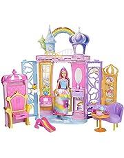 Barbie - Dreamtopia, Castillo de arcoiris con muñeca (Mattel FRB15)
