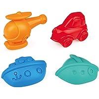 Hape E4085 Travel Sand Mold Beach Toy Set (4 Piece),Bold