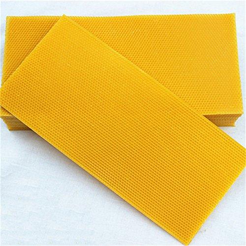Janolia 30 Pcs Honeycomb Bee Wax Foundation, Beehive Wax