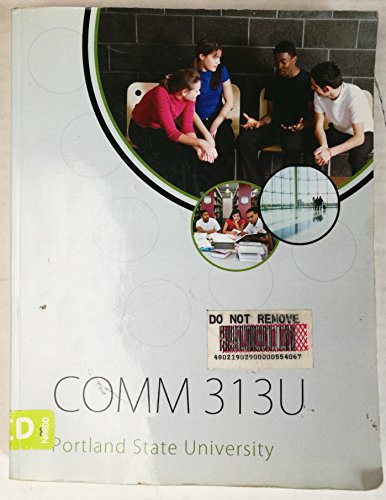 Comm 313u Portland State University