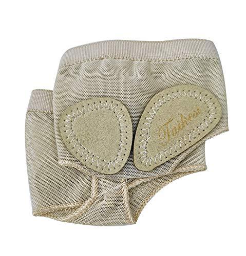 Taikesi Leather Women's Ballet Dance Shoes Half Sole Dance Paw (M) Nude -
