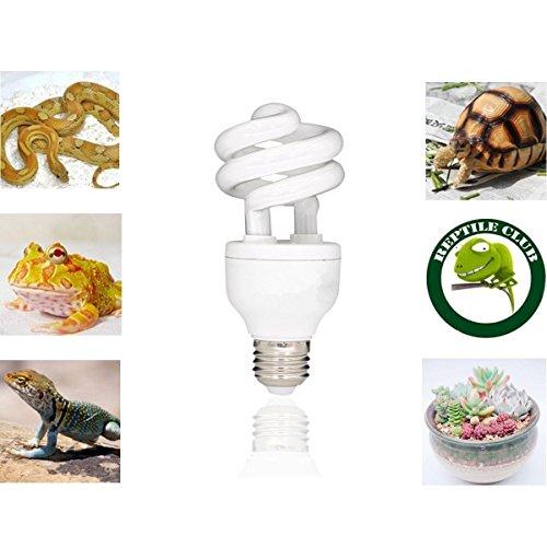 STTQYB Reptile UVA UVB Light 5.0 Compact Fluorescent Tropical Terrarium Lamp (13W) -