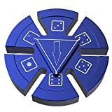 Dice Fidget Spinner, ATiC Stress Reducer Metal Hand Toy Fortune Wheel Fun Desktop Spinning Top with Stainless Steel Speedy Bearing for ADD, ADHD, Autism Kids and Adults Killing Time, Blue