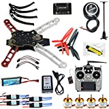 QWinOut Full Set RC Drone Quadrocopter Aircraft Kit Q330 Across Frame + 6M GPS + APM 2.8 Flight Control + AT10 Transmitter