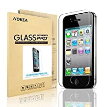 iPhone 4S Screen Protector, NOKEA [9H Hardness] [Crystal Clear] [Easy Bubble-Free Installation] [Scratch Resist] Tempered Glass Screen Protector for Apple iPhone 4, iPhone 4S (For 4/4S)