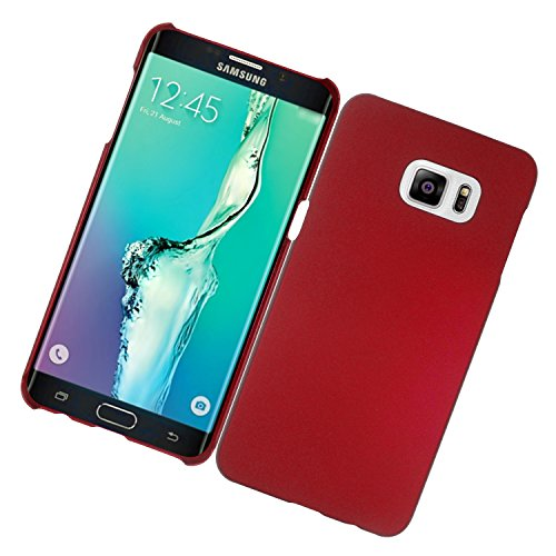 Galaxy S6 Edge Plus Case, Eagle Cell Rubberized Hard Snap-in Case Cover For Samsung Galaxy S6 Edge Plus, Red (Rubberize Red Snap)