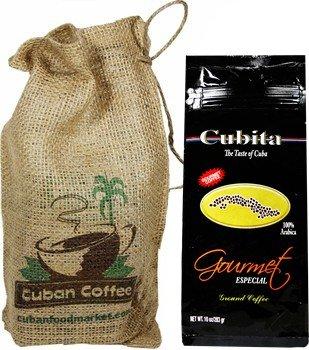 Cafe Cubita Coffee. 10 oz pack, includes a beautiful burlap bag.
