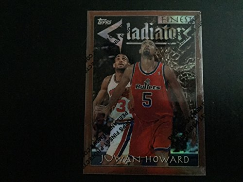 1996-1997 ToppsFinest Basketball Juwan Howard Refractor Card Gladiators #85 Theme G24!! Miami Heat, Dallas Mavericks, Denver Nuggets, Orlando Magic, Houston Rockets, Portland Trail Blazers, Charlotte Bobcats (Refractors Basketball Card)