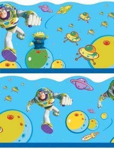 Toy Story Buzz Lightyear Wallpaper Border 5m X 21 4 Cm Self Adhesive Amazon Co Uk Kitchen Home