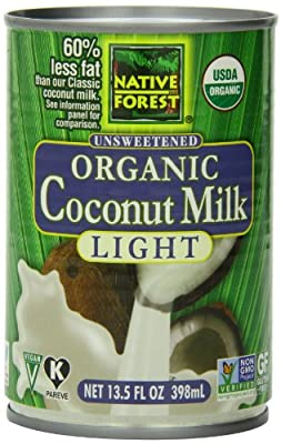 Native Forest Organic Light Coconut Milk, Reduced Fat, 13.5-Ounce Cans (Pack of 12) from Native Forest