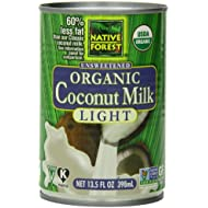 Native Forest Organic Light Coconut Milk, Reduced Fat, 13.5-Ounce Cans (Pack of 12)