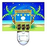 Moonlit Tiki Bar Decorative Nightlight