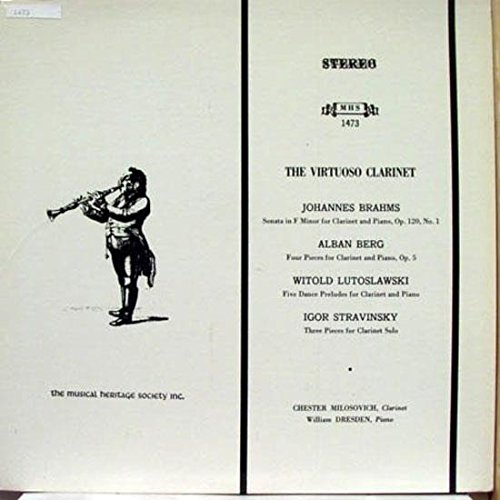 (Chester Milosovich The Virtuoso Clarinet vinyl record)