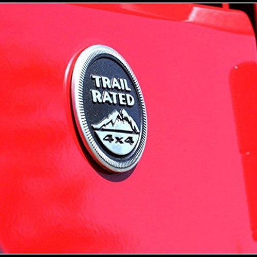 Jeep Trail Rated 4X4 Nameplate Emblem Wrangler Grand Cherokee Liberty 1Set Black by GOOACC 2Pcs
