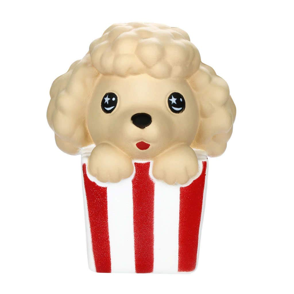 Dianli Lovely Squishy Cute Christmas Poodle Slow Rising Fruits Scented, Vent Charms Super Soft Eco-Friendly Materials Squeeze Toys Gift Collection