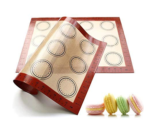Silicone Baking Mat, Non-Stick Liner for Microwave Toaster Oven Tray Pan. (Red Baking Mat)