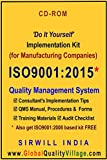 ISO 9001:2015 Implementation Kit for Manufacturing Cos. (Manual, Procedures, Forms, etc.)