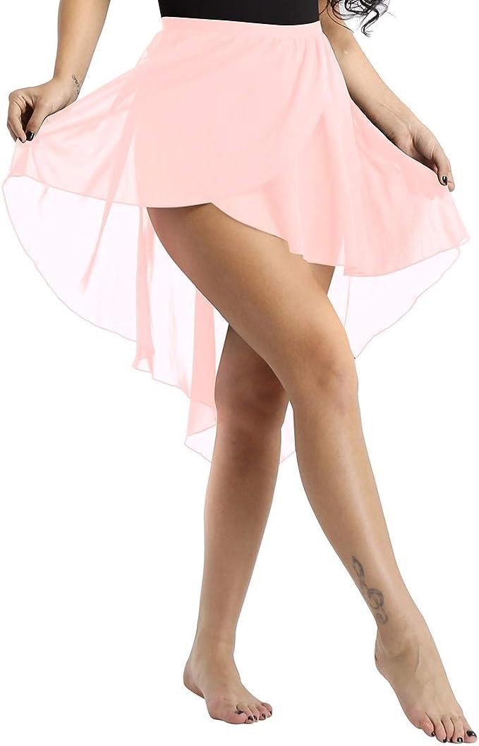 inhzoy Femme Jupe de Danse Tutu Ballet Jupette Tulle Jupe /à Paillettes Jupe Soir/ée Latine Jazz Salsa Dancewear