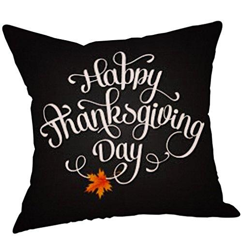 HITRAS 1PC Thanksgiving Square Pillow Case Sofa Waist Throw Cushion Cover Decor (Size: 18