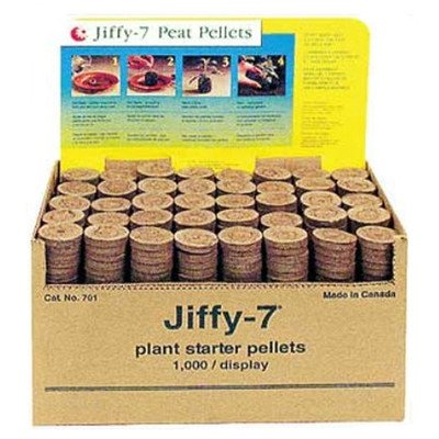 Jiffy-7 5701 Peat Pellet without Hole, 1000/Bulk Box by Jiffy