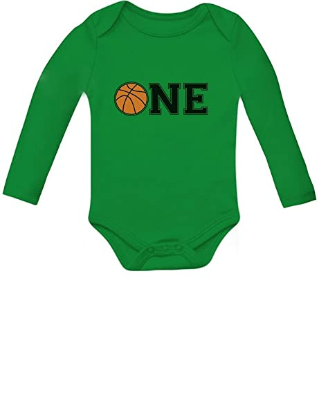 1st Birthday Gift For One Year Old Infant Basketball Baby Long Sleeve Bodysuit Newborn 0