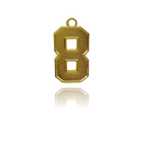 Amazon number 8 jersey style sports necklace charm pendant 08 number 8 jersey style sports necklace charm pendant 08quot tall standard size aloadofball Choice Image