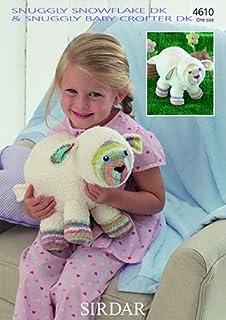 96302f87eb37a Sirdar Snuggly Snowflake Baby Crofter DK Knitting Pattern - 4610 Lamb Toy  by Sirdar