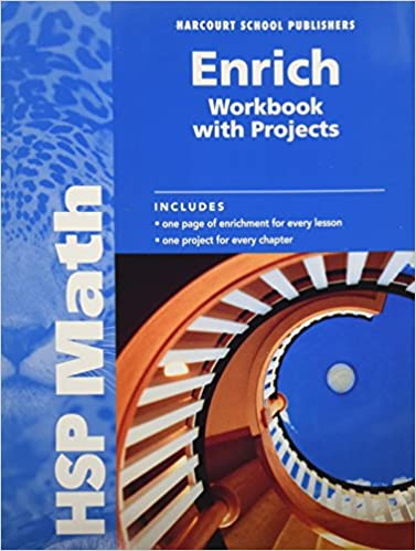 Hsp Math Enrich Workbook With Projects Grade 6 Harcourt School