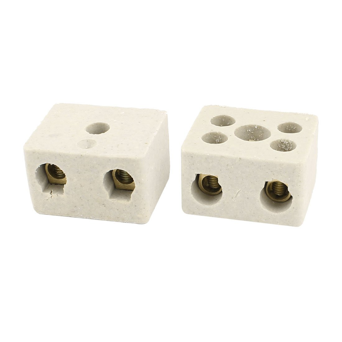 sourcingmap® 2Pcs Insulation High Temp Porcelain Ceramic Terminal Block AC 380V 30A a14091000ux0564