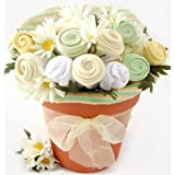 Baby Blossom Clothing Bouquet Gift-Neutral (3-6 Months). (Baby Shower Gift Baskets, Baby Shower Gift Baskets Neutral, Gifts For Baby Shower, Baby Shower Gifts For Baby Girls, Gift Basket for Baby Boy, Baby Shower Gifts For Boys, Baby Shower Gifts for Girls, Baby Shower Gifts, Gift Basket for Baby Girl, Gift Basket for New Mom, Gift Basket for Mom to Be, Gift Baskets for Expecting Moms, Gift Basket for Baby, Gift Baskets for New Parents)