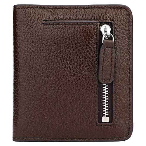 RFID Blocking Wallet Women's Small Compact Bifold Leather Purse Front Pocket Mini Wallet - Compact Wallet Leather