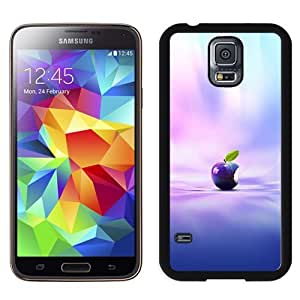 New Beautiful Custom Designed Cover Case For Samsung Galaxy S5 I9600 G900a G900v G900p G900t G900w With Purple Apple Phone Case
