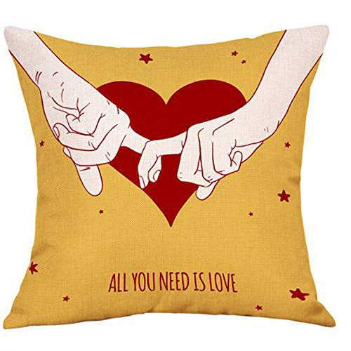 GOVOW Valentine's Day Cafe Party Decorations Fashion Throw Pillow Cases Cafe Sofa Cushion Cover Home Decor