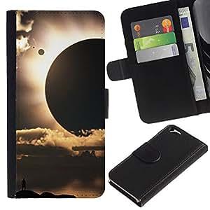 Be Good Phone Accessory // Caso del tirón Billetera de Cuero Titular de la tarjeta Carcasa Funda de Protección para Apple Iphone 6 4.7 // Sun Planets Sci-Fi Space Earth