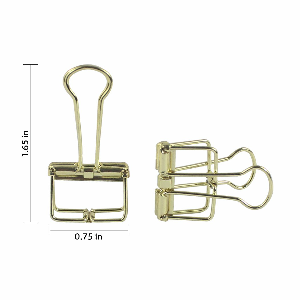 Zoohot Creative Hollow Clip Silver Long Tail Clip 15 Count