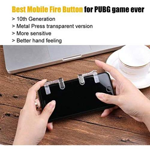 Gadgets Appliances PUBG Sensitive Shoot/Aim Buttons L1 R1 Trigger Mobile Game Controller for Andriod & iOS Gaming Accessory Kit (Silver, for Mac OS)